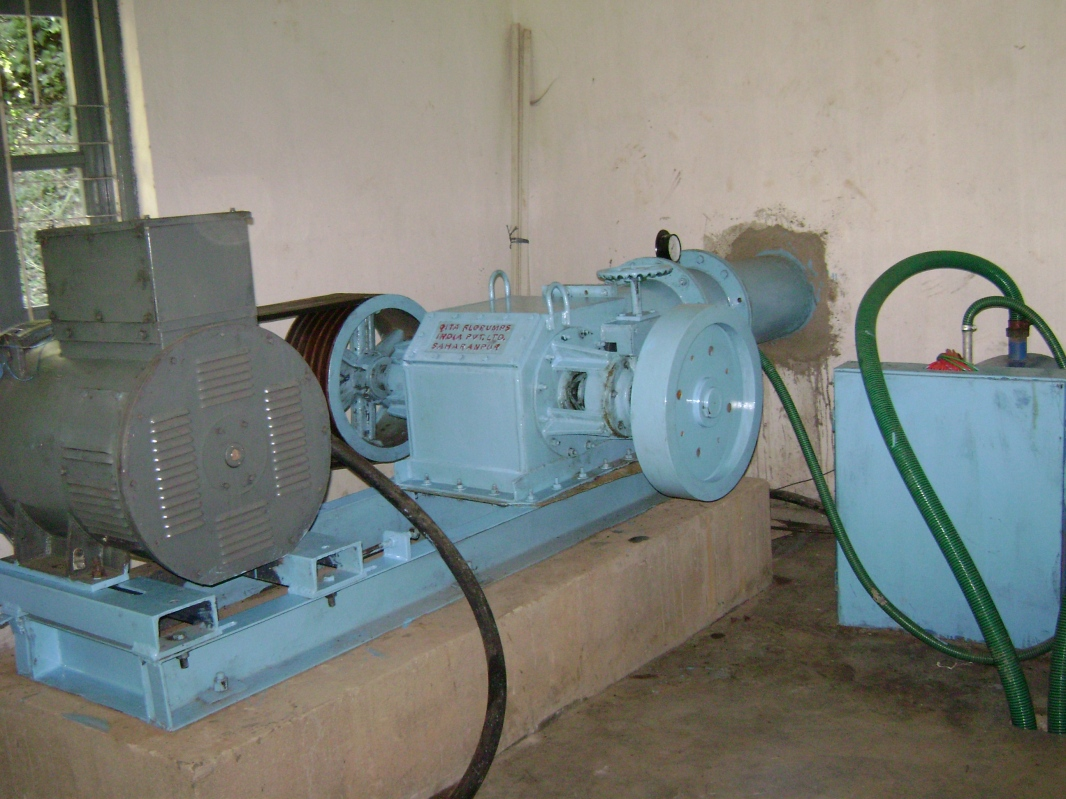 Turbine room at project site